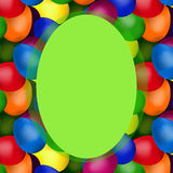 Oval frame of easter eggs Royalty Free Stock Photo