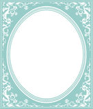 Oval frame with elegant ornament. Stylish oval frame with tender color design for greeting card, invitation, poster Royalty Free Stock Photography