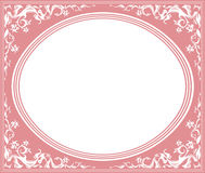 Oval frame with elegant ornament Stock Photo