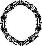 Oval frame with floral pattern Royalty Free Stock Photo
