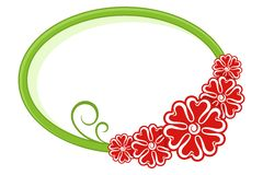 Oval frame. Floral pattern. This is file of EPS10 format Stock Image