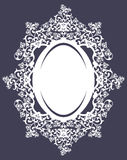 Oval frame with floral roses ornament vector design Stock Photography