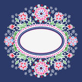Oval frame with flowers. Royalty Free Stock Photography
