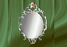 Oval frame on green background Royalty Free Stock Photos