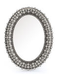 Oval frame. With jeweled on white Royalty Free Stock Images