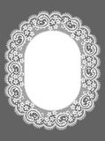 Oval Frame. Lace. Floral Pattern. Royalty Free Stock Photos