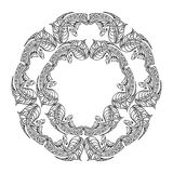 Oval Frame mandala Stock Photo