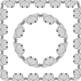 Oval Frame mandala Stock Images
