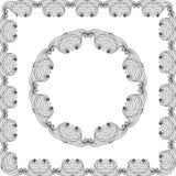 Oval Frame mandala Stock Images