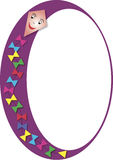 Oval frame with paper kite. A colorful oval frame with a paper kite Royalty Free Stock Images