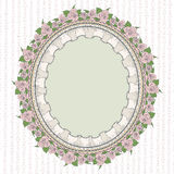 Oval frame in the Provence style Royalty Free Stock Images