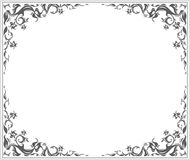 Oval frame. With stylish vintage ornament and floral elements Royalty Free Stock Image