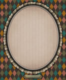 Oval with frame. Vintage oval frame of lace. Сomputer graphics Royalty Free Stock Photography