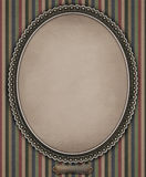 Oval with frame. Vintage oval frame of lace. Сomputer graphics Royalty Free Stock Photo