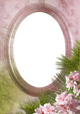 Oval Frame With A Flower Stock Photography