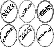Oval frames. Silhouette oval frames -  illustration Royalty Free Stock Images