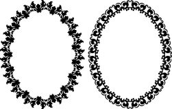 Oval frames. With ornaments - vector illustration Royalty Free Stock Photo