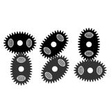 Oval gears. Vector illustration. Impossible is possible Royalty Free Stock Images