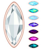 Oval gemstone set. Stock Image
