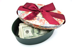 Oval gift box Stock Image
