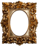 Oval gilded frame Stock Photo