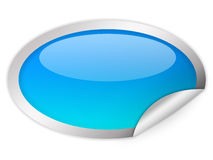 Oval glass icon Royalty Free Stock Image