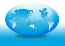 Oval globe royalty free stock photography