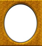 Oval gold frame Stock Photo