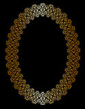 Oval gold frame Royalty Free Stock Photography