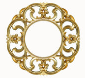 Oval gold picture frame Royalty Free Stock Image