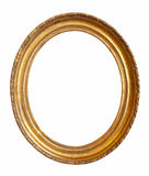 Oval gold picture frame Royalty Free Stock Photography