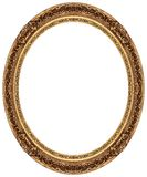 Oval gold picture frame Stock Photography
