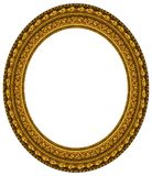 Oval gold picture frame Royalty Free Stock Photo