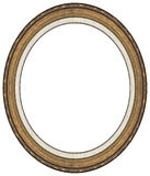 Oval gold picture frame Royalty Free Stock Photos