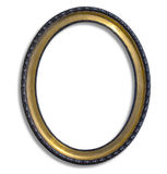 Oval gold picture frame Royalty Free Stock Images