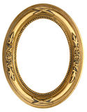 Oval Gold Picture Frame. Gold Oval Picture Frame isolated on white Royalty Free Stock Photo