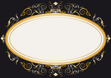 Oval gold retro frame Stock Photo