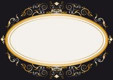 Oval gold retro frame Stock Photo