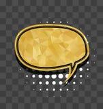 Oval gold sparkle comic text bubble Stock Photo