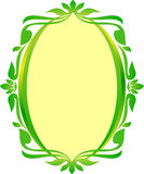 Oval Green gold frame oval floral. Green gold frame oval floral for wedding nature sign Royalty Free Stock Photography