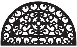Oval grille segment. For outdoor fence. Vector illustration vector illustration