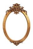 Oval guld- tappningram Arkivbild