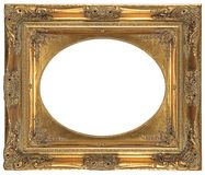 Oval isolated decorative bronze frame Royalty Free Stock Photo