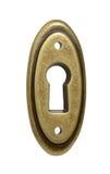 Oval keyhole close up Royalty Free Stock Photos