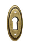 Oval keyhole close up Stock Images