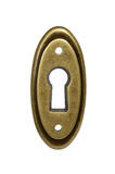 Oval keyhole. Royalty Free Stock Images