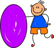 Oval kid Stock Images