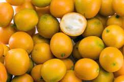 Oval kumquats Stock Photos