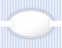 Oval label with dotted frame Royalty Free Stock Photography