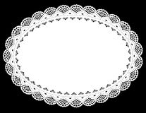 Oval Lace Doily Place Mat stock illustration